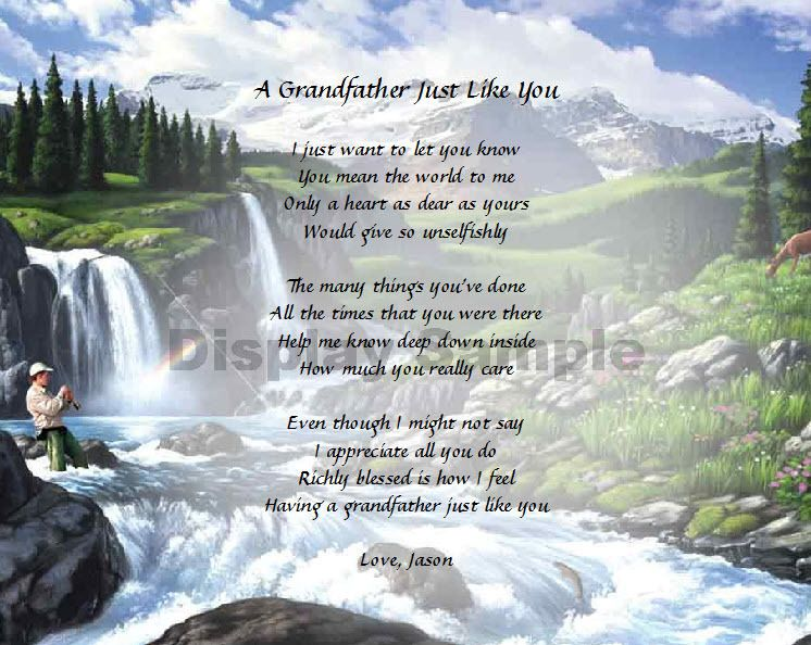 Grandfather Grandpa Personalized Poem Birthday Gift