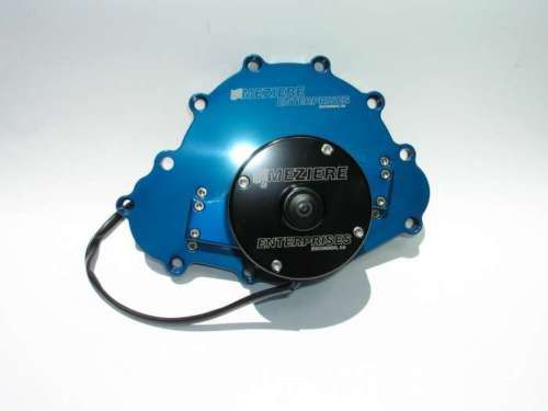 Meziere Pontiac 12V Electric Water Pump BLUE WP103B