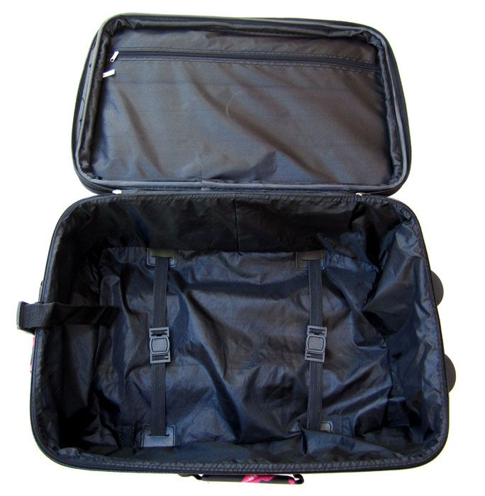 3Pc Luggage Set Travel Bag Rolling Case Wheel Pink Lips