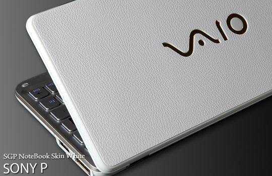 Sony VAIO P Series Laptop Cover Skin   White Leather