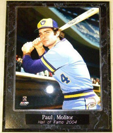 Paul Molitor Hall Of Fame 2004 Brewers 10.5x13 Plaque