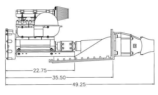 70hp 2 Stroke Jet Engine, 5hrs, 2 Stroke International
