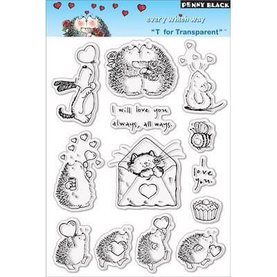 PENNY BLACK VALENTINE EVERY WHICH WAY CLEAR STAMP SET